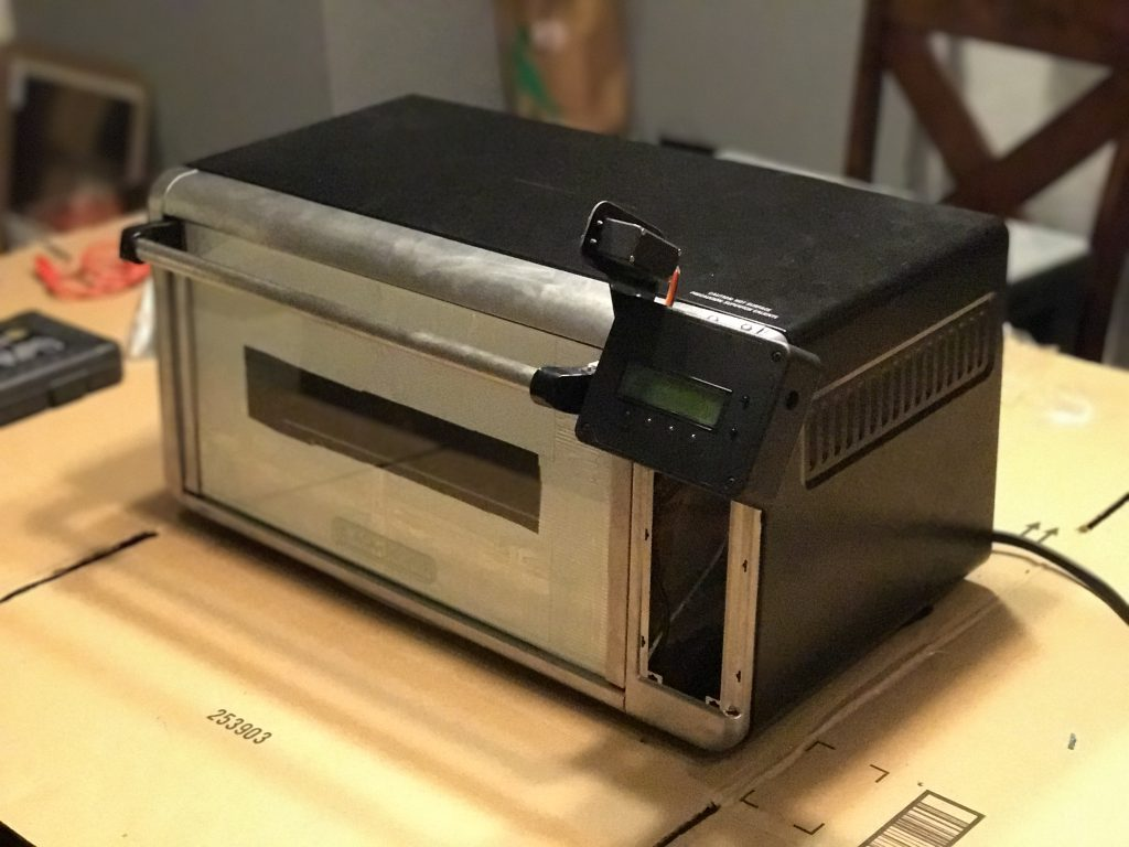 Finished reflow oven